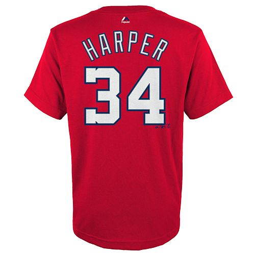 Boys 4-18 Washington Nationals Bryce Harper Player Name and Number Tee