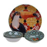 Certified International Paradise 5-piece Melamine Salad Serving Set
