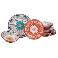 Certified International Vera Cruz 12-piece Melamine Dinnerware Set
