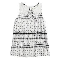 Girls 7-16 Mudd® Lace-Up Crochet Tank
