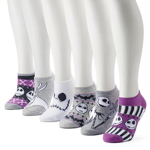 "Women's ""The Nightmare Before Christmas"" 6-Pack No-Show Socks"