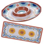 Certified International Vera Cruz 2-piece Melamine Hostess Set