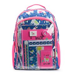 Kids Llama Backpack & School Accessories Set