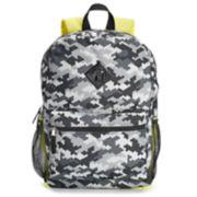 Kids Digital Camo Print Backpack, Lunch Bag, Tablet Case, Pencil Case, Water Bottle & Carabiner Set