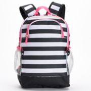 Kids Striped Panda Bear Backpack, Lunch Bag, Tablet Case, Pencil Case & Water Bottle Set