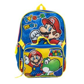 Kids Nintendo Mario & Yoshi Backpack & Lunch Bag Set