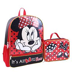 Disney's Minnie Mouse Kids Backpack & Lunch Bag Set