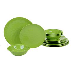 Certified International 12 pc Solid Melamine Dinnerware Set