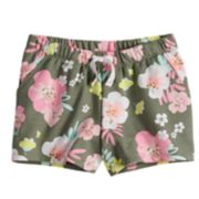 Girls 4-10 Jumping Beans® Floral Graphic French Terry Shorts
