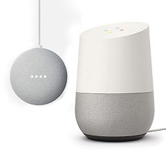 Google Home Voice-Activated Speaker & Google Home Mini Bundle