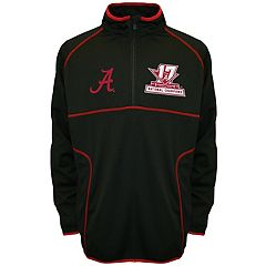 Men's Franchise Club Alabama Crimson Tide 17-Time National Champions Thermatec Pullover Jacket