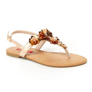 Unionbay Ella Women's Flower T-Strap Sandals