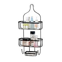 Home Basics Black Shower Caddy
