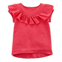 Girls 4-8 Carter's Ruffle High-Low Tee