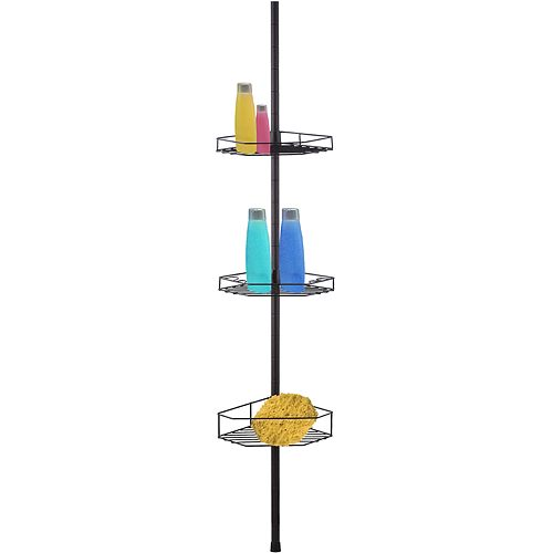 Home Basics 3-Tier Tension Rod Shower Caddy