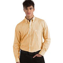 Men's Antigua Tennessee Volunteers Box Plaid Pattern Button-Down Shirt