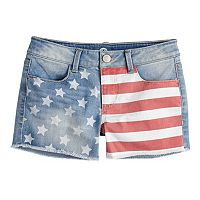 Girls 7-16 SO® Fringe Jean Shorts
