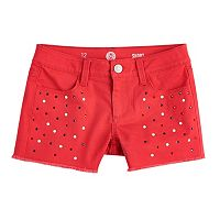 Girls 7-16 SO® Fringe Jean Shorts