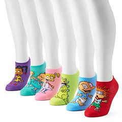 Women's Nickelodeon Rugrats 6-Pack No-Show Socks