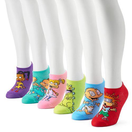 1791bf5db Women s Nickelodeon Rugrats 6-Pack No-Show Socks