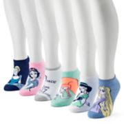 Women's Disney Princesses 6-Pack No-Show Socks