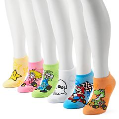 Women's Nintendo Mario Kart 6-Pack No-Show Socks