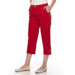 Women's Croft & Barrow® Effortless Stretch Twill Capri Pants