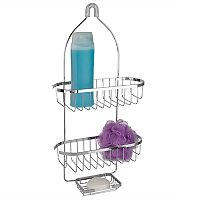 Home Basics Chrome Plated Steel Shower Caddy