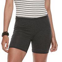 Juniors' SO® Heathered Jersey Shorts