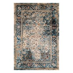 United Weavers Jules Camelot Weathered Framed Floral Rug