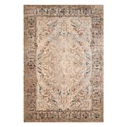 United Weavers Jules Jasper Weathered Framed Floral Rug