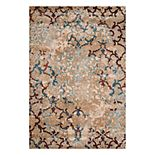 United Weavers Jules Andalusite Weathered Framed Floral Rug