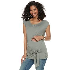 Maternity a:glow Knot Dolman Tee