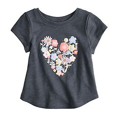 Baby Girl Jumping Beans® Slubbed Heart Graphic Tee