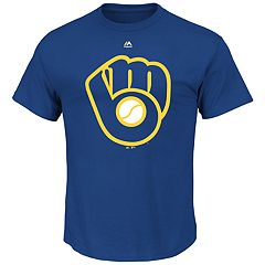 Big & Tall Majestic Milwaukee Brewers Official Logo Tee