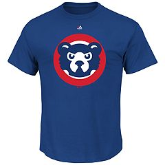 Big & Tall Majestic Chicago Cubs Official Logo Tee