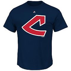Big & Tall Majestic Cleveland Indians Official Logo Tee