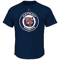 Big & Tall Majestic Detroit Tigers Official Logo Tee