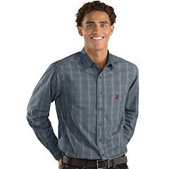 Men's Antigua Alabama Crimson Tide Plaid Pattern Button-Down Shirt
