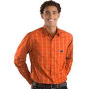 Men's Antigua Florida Gators Plaid Pattern Button-Down Shirt