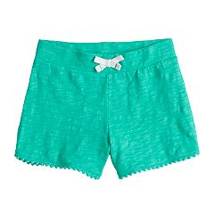 Girls 4-10 Jumping Beans® Pom-Pom Trim French Terry Shorts
