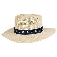 Men's Wembley Straw Gambler Hat
