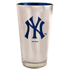 New York Yankees Electroplated Pint Glass