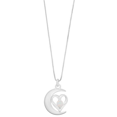 "Timeless Sterling Silver ""Moon & Back"" Pendant Necklace"