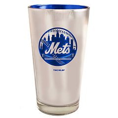 New York Mets Electroplated Pint Glass