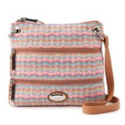 Rosetti Demi Shimmery Striped Mini Crossbody Bag