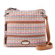 Rosetti Demi Shimmery Striped Mini Crossbody Bag