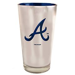 Atlanta Braves Electroplated Pint Glass