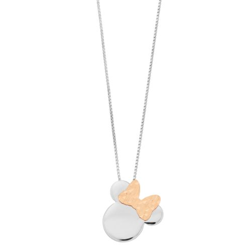 Disney's Minnie Mouse Two Tone Pendant Necklace by Kohl's