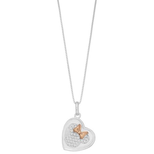 Disney's Minnie Mouse Heart Pendant Necklace by Kohl's
